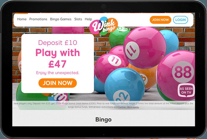 welcome bonus wink bingo