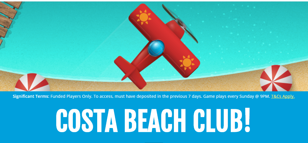 costa beach club costa bingo