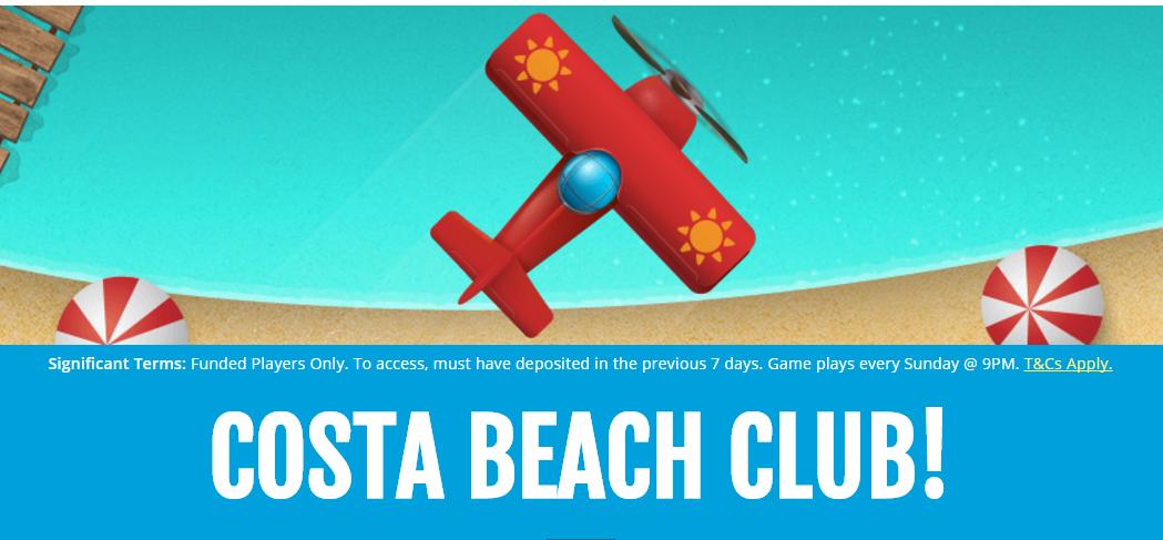 costa beach club costa bingo